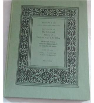 Catalogue of The Celebrated Library of The Late Major J. R. Abbey