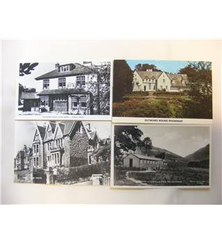 Four Old Postcards of Youth Hostels.