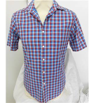 Topman - Size: S - Blue/Red checked  - Short sleeved