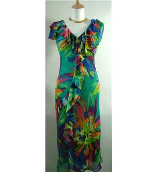 Per Una (M&S/ Marks and Spencer) women's dress - size 8 L extra long length Per Una - Size: 8 - Multi-coloured - Summer