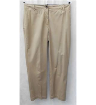 Hobbs - size: 12, beige trousers