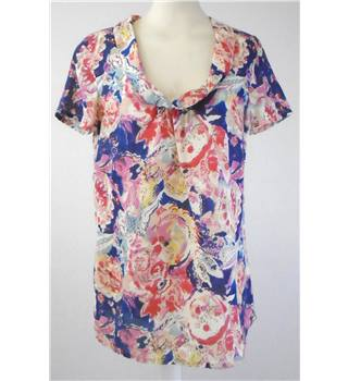 East - Size: 8 - Multi-coloured - Short Sleeved Top