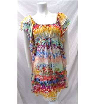 H&M Size 10 Multi-coloured Floaty Dress H&M - Size: 10 - Multi-coloured