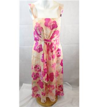 BEAUTIFUL SILK PINK FLORAL DRESS BY FENN WRIGHT MANSON SIZE 8 Fenn Wright Manson - Multi-coloured - Sleeveless