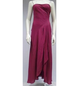 Monsoon - Size 8-Burgundy-Evening dress