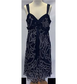 Midnight blue silk floating dress size: medium [HALF PRICE]