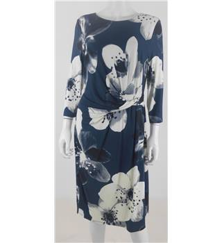Phase Eight Size 16 Blue Floral Dress