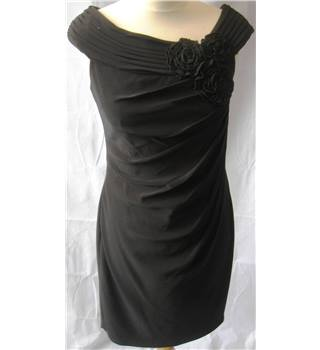 Adrianna Papell black jersey draped cocktail dress size 4 Adrianna Papell - Size: XS - Black - Cocktail dress
