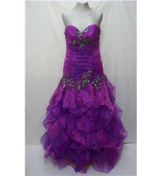 Crystal Breeze - Size: 8 - Shiny Purple - Prom or evening dress