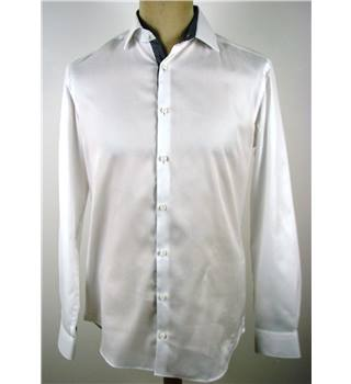 "M&S ""Autograph"" 15"" Collar White ""Tailored Fit"" Formal Shirt."