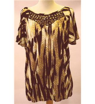 BNWT - Wallis - Size M - Leopard Print Top Wallis - Size: M - Brown - Cap sleeved T-shirt