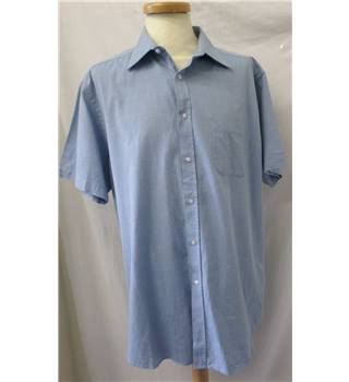 Debenhams - Size: 17.5 - Blue - Short sleeved Shirt