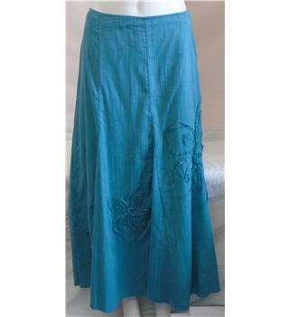 Marks & Spencer Per Una Skirt - Size 14R - Turquoise