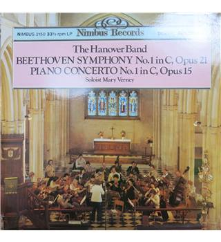 Beethoven Symphony no. 1 and Piano Concerto No. 1, Op.15 (Mary Verney, piano).  Nimbus Digital 2150. Stereo.