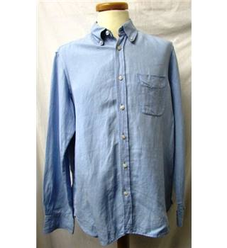 Blue Harbour By M&S - Size: M - Blue - Long sleeved Shirt