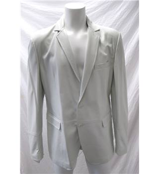 "Dolce and Gabbana Size 46"" White Leather Coat Dolce and Gabbana - Size: L - White"