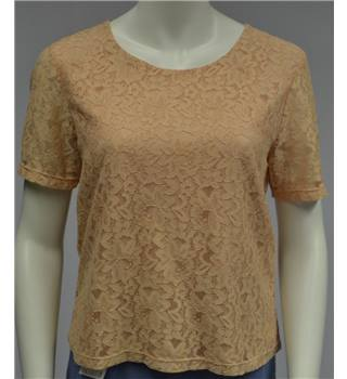 Eastex - Size 14 - Peach Lace Style Top
