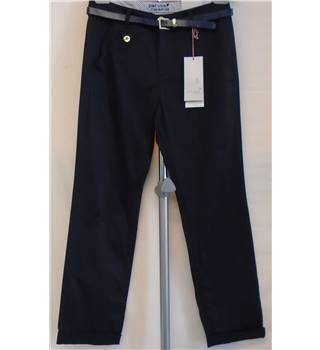 Marks & Spencer Per Una Trousers - Size 8 (Short) - Navy