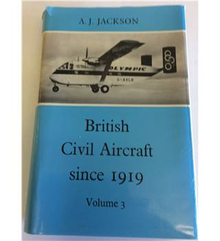 British civil aircraft since 1919 volume 3 by Jackson 1974
