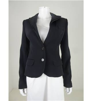 Dolce & Gabbana Size 14 Black Fitted Layered Lapel Blazer