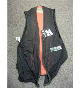 "Quicksilver Size: XL, 46"" chest True Black & Orange Snow/Ski ""Steach"" Protective Ribbed Plastic Back Layer"
