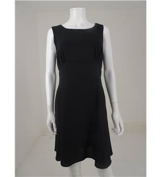 Debut Size 10 Black Knee Length Dress with Cowl Neckline