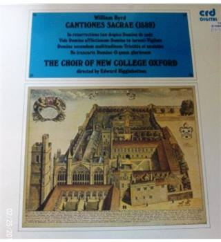 William Byrd - The Choir Of New College Oxford, Edward Higginbottom ‎– Cantiones Sacrae (1589)
