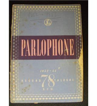 Parlophone Record catalogue 1952-1953