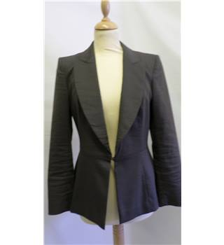 Joseph, Paris - size 8/10 - grey/sable colour - peplum jacket