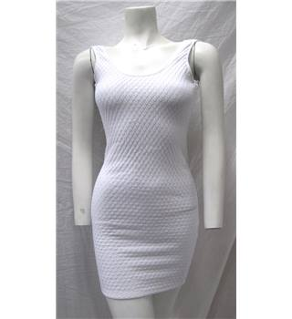 Missguided Size 8 White Backless Bodycon Dress Missguided - Size: 8 - White