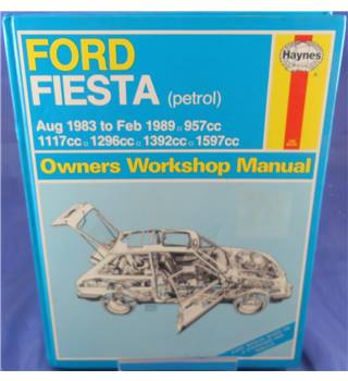 Haynes Service and Repair Manual - Ford Fiesta Petrol '83 to '89