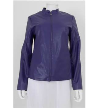 New Look Size: 8 Purple Faux Leather Jacket