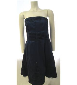 Jane Norman Size 16 Embroidered Navy Dress Jane Norman - Size: 16 - Blue