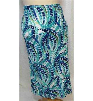 M&S Marks & Spencer - Size: 10 - Blue - Calf length skirt