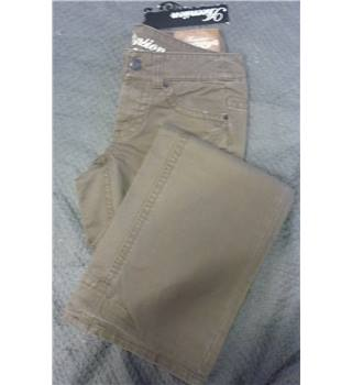 "BNWT Ascension Size 10 Reg Organic Cotton Sand Trousers Ascension - Size: 30"" - Brown - Trousers"