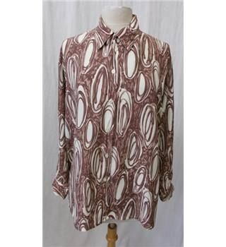 Next - Size: M brown and cream long sleeved shirt
