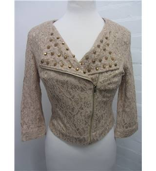 Solange zipped lace jacket  like new Size: M - Beige - Casual jacket / coat