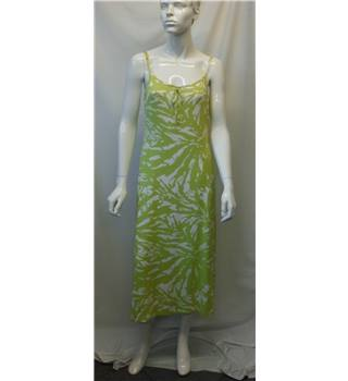 BNWT Savoir Lime Green Print Dress - Size 14