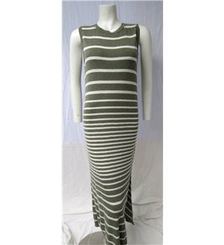 M&S Size 14 Green Striped Maxi Dress M&S Marks & Spencer - Size: 14 - Green