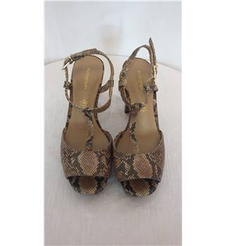 Autograph M&S snakeskin effect block heels size 3 M&S Marks & Spencer - Size: 3 - Brown
