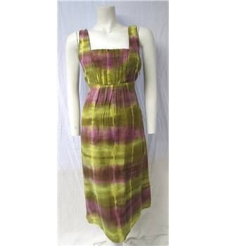 M&S Size 10 Green Tie-Dye Dress M&S Marks & Spencer - Size: 10 - Green
