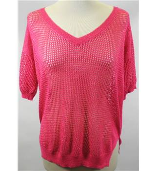 NEXT Size 6 Baby Pink Lace Mesh Top [HALF PRICE]