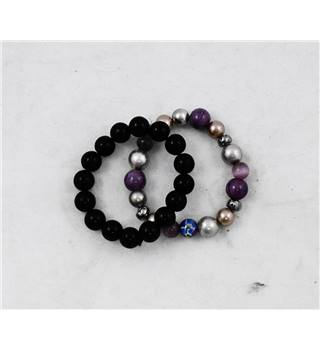 Two Elasticated Bracelets