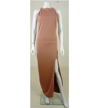 NEW BNWT Rare London Nude Pink Strappy Back Dress Size 8