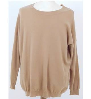 Jaeger Size XL Beige Wool Mix Jumper