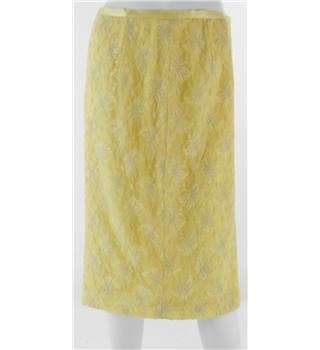 FERAUD Yellow Knee-Length Skirt No Size but Waistband Measures 31""