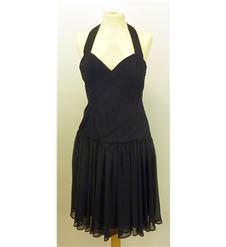 Reiss size 8 halter-neck black dress. Reiss - Size: 8 - Black - Cocktail dress