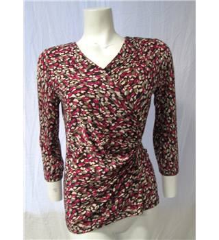 Country Casuals Size S Patterned Top Country Casuals - Size: S - Multi-coloured