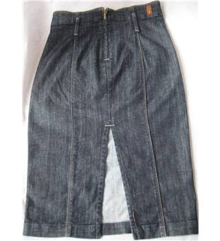 7 for All Mankind stretch denim pencil skirt size 26 waist 7 for all mankind - Size: 26 - Blue - Pencil skirt