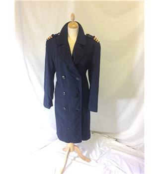 BOAC-Size M/L- Navy- Military Trench Coat BOAC - Size: M - Blue